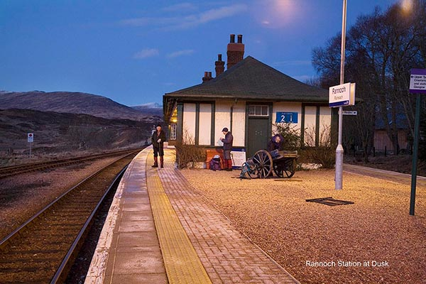 Rannoch Station on an early winter evening.