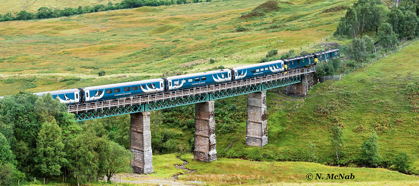 London – Fort William Caledonian Sleeper between Tyndrum & Bridge of Orchy