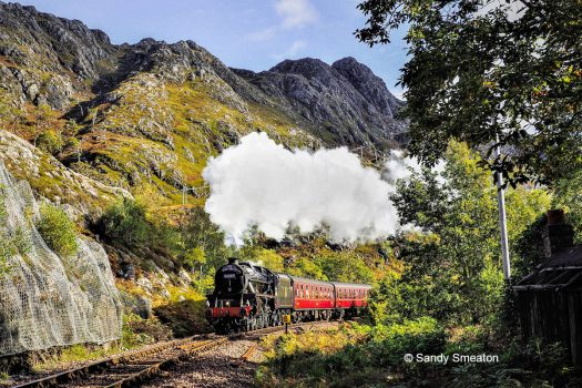 5MT 45407 storming the steep climb to Beasdale - photo: Sandy Smeaton