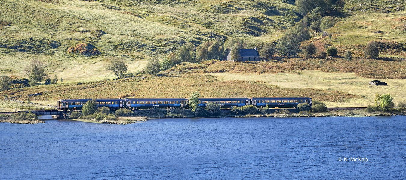 Mallaig – Fort William summer service passes along south shore of Loch Eilt.