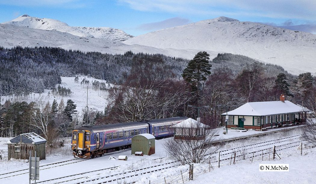 Bridge of Orchy Station, 23rd December 2009.